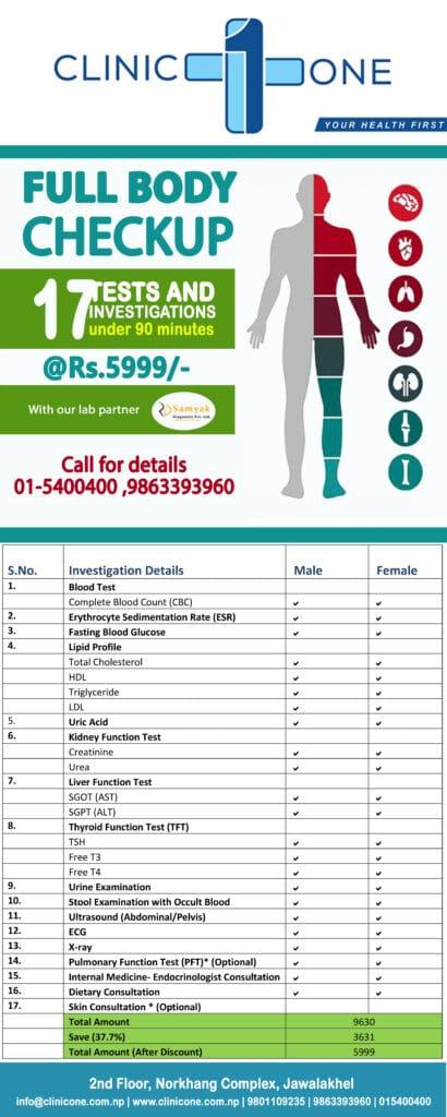 Full Body Checkup in Nepal