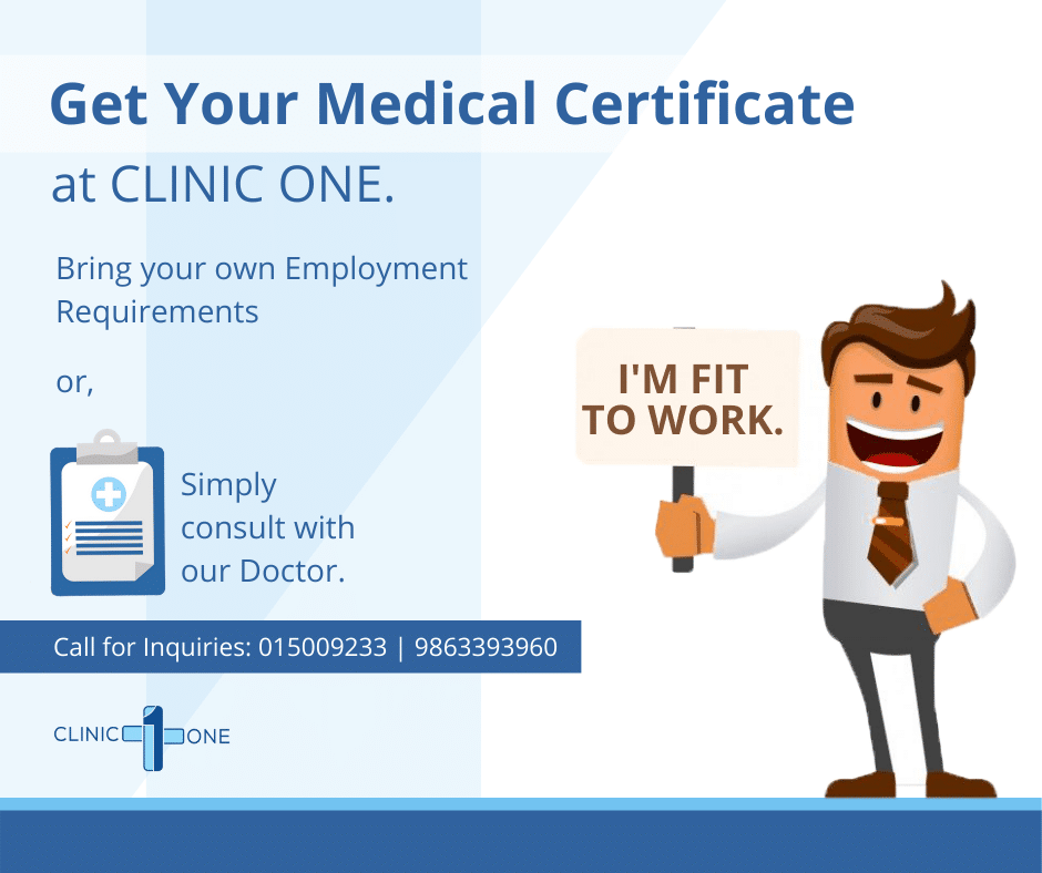 """Fit To Work"" Certificate 